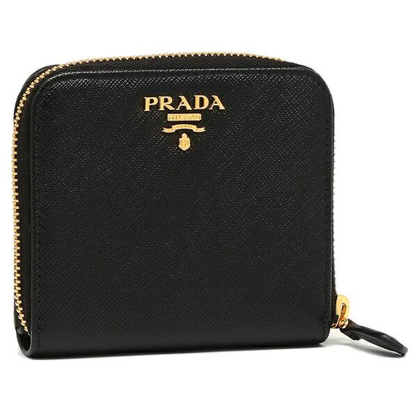 プラダ 折り財布 レディース PRADA 1ML522 QWA F0002 ブラック