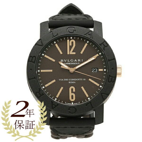 BVLGARI 腕時計 メンズ ブルガリ BBP40C11CGLD ブラウン ブラック