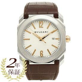 9528b5763a3c 【4時間限定ポイント10倍】BVLGARI 腕時計 メンズ ブルガリ BGO41WSLD ホワイト シルバー ブラウン