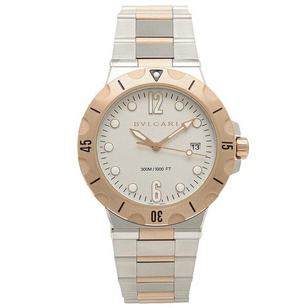 BVLGARI 腕時計 メンズ ブルガリ DP41WSPGSD シルバー ローズゴールド