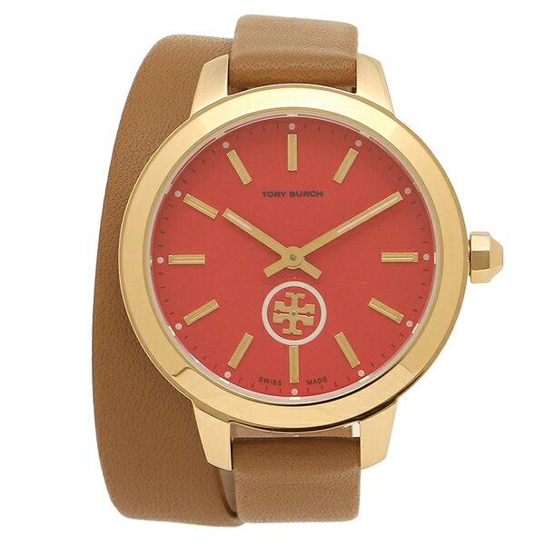 トリーバーチ 腕時計 アウトレット レディース TORY BURCH TB1208 ブラウン イエローゴールド レッド