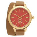 トリーバーチ 腕時計 アウトレット レディース TORY BURCH TB1208 ブラウン イエローゴールド レッド クリスマスセール