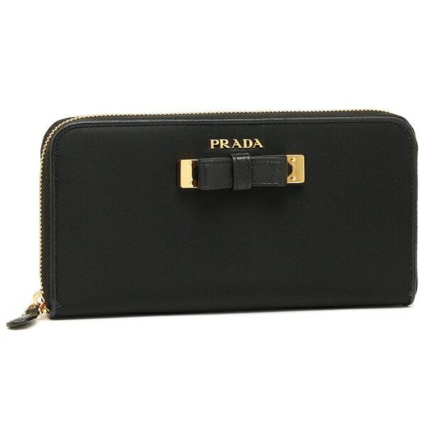 プラダ 長財布 レディース PRADA 1ML506 POC F0002 ブラック