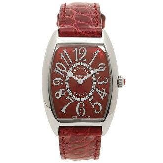 Frank Muller clock Lady's FRANCK MULLER 1752QZCARPET RED RED red silver