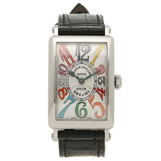 Frank Muller clock Lady's FRANCK MULLER 902QZCOLDRMSLV green silver multicolored