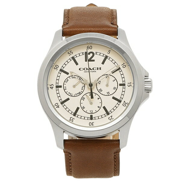 【6時間限定ポイント10倍】コーチ 腕時計 アウトレット メンズ COACH W5012 PH/SD パークホワイト サドルブラウン