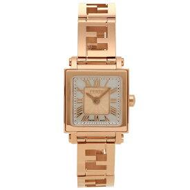 【48時間限定ポイント10倍】【返品保証】フェンディ 腕時計 レディース FENDI F605524500 ホワイトパール ピンクゴールド
