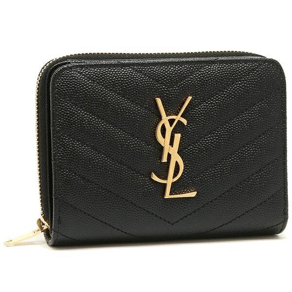 サンローラン 折財布 レディース SAINT LAURENT PARIS 403723 BOW01 1000 ブラック