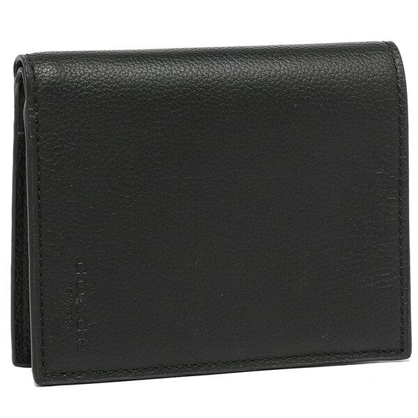 コーチ 折財布 アウトレット メンズ COACH F86764 BLK ブラック