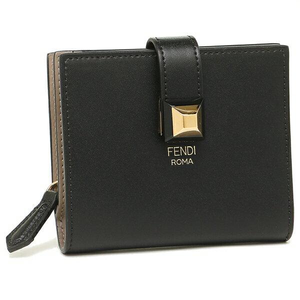 【5%OFFクーポン対象】フェンディ 折財布 レディース FENDI 8M0386 SWD F0E6E ブラック トープ