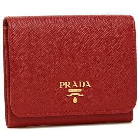 【72時間限定ポイント10倍】プラダ 折財布 レディース PRADA 1MH176 QWA F068Z レッド