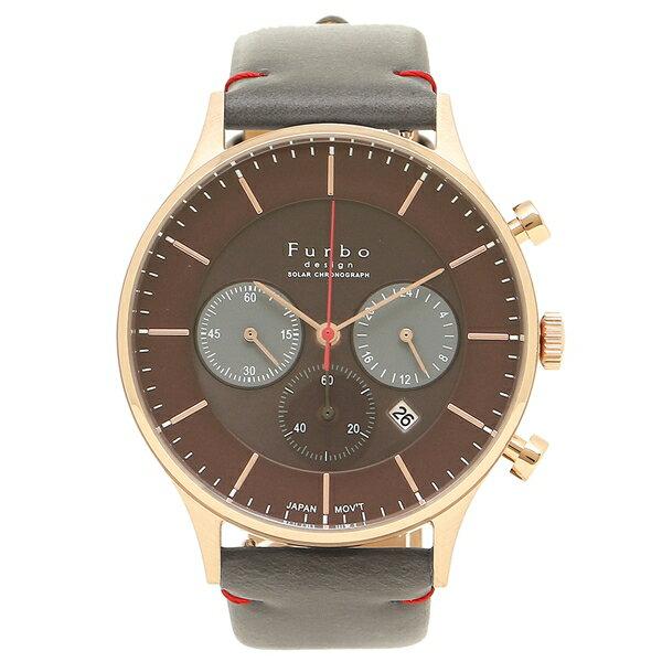 【6時間限定ポイント10倍】フルボデザイン 腕時計 メンズ Furbo design F751-PBRGY ピンクゴールド グレー ブラウン