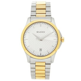 【30時間限定ポイント5倍】グッチ 腕時計 メンズ GUCCI YA126450 イエローゴールド シルバー