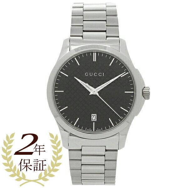 グッチ 腕時計 メンズ GUCCI YA126457 ブラック シルバー