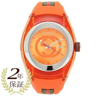 Gucci clock men / Lady's GUCCI YA137311 orange silver