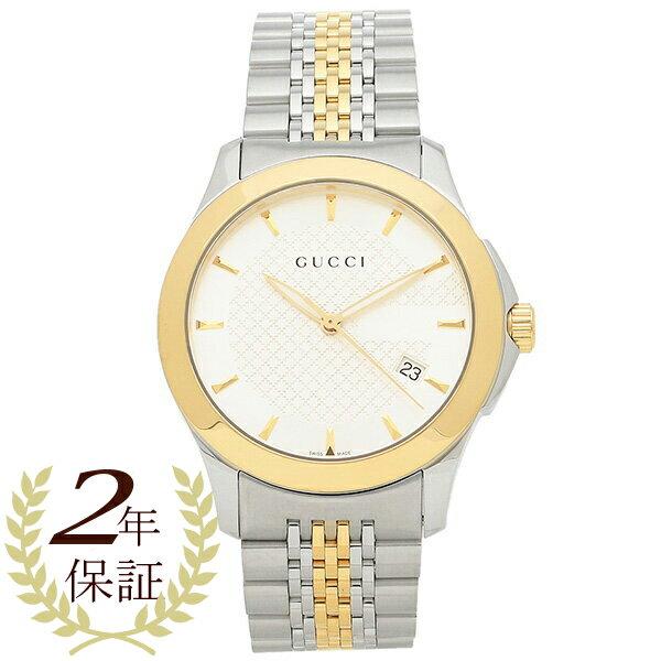 グッチ GUCCI 時計 腕時計 メンズ YA126409 Gタイムレス ホワイト/ゴールド/シルバー ウォッチ