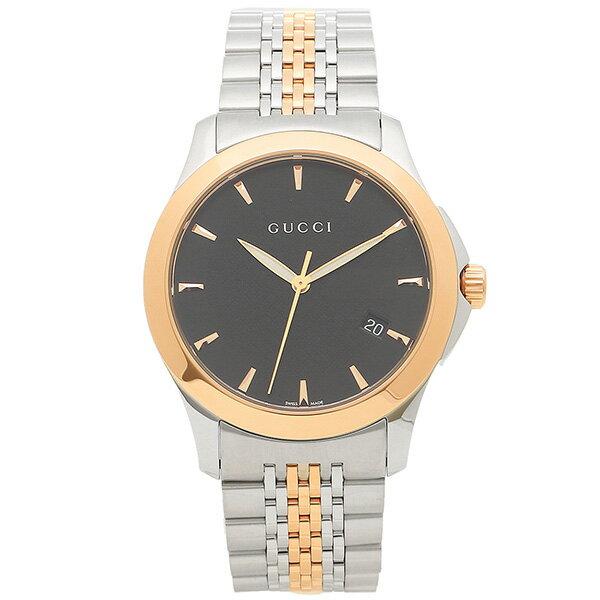 【24時間限定ポイント5倍】グッチ 腕時計 GUCCI YA126410 シルバーゴールド