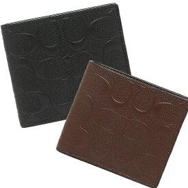 【6時間限定ポイント10倍】【返品OK】コーチ アウトレット 二つ折り財布 シグネチャー ミニ財布 メンズ COACH F75363