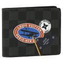 ルイヴィトン 二つ折り財布 メンズ LOUIS VUITTON N64439 グレー