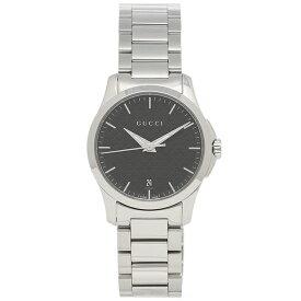 【30時間限定ポイント5倍】グッチ 腕時計 レディース GUCCI YA126592 シルバー ブラック