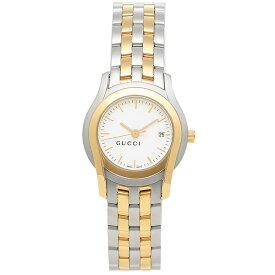 グッチ 時計 レディース GUCCI Gクラス 腕時計 ウォッチ ホワイト/シルバー/イエローゴールド