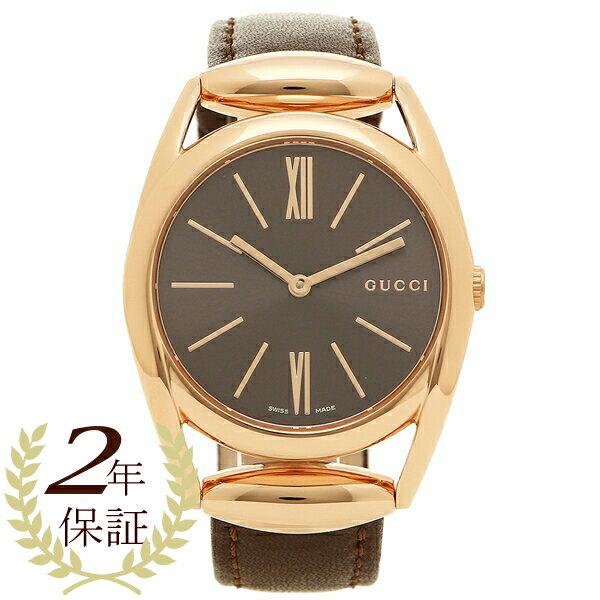 グッチ 腕時計 レディース GUCCI YA140408 ブラウン ブラック ピンクゴールド
