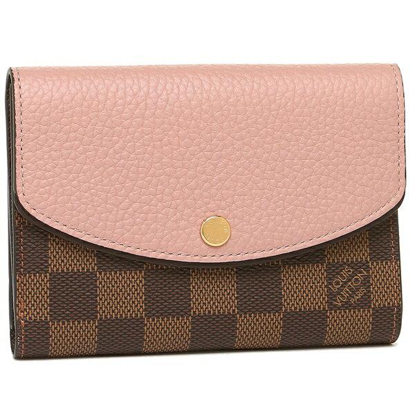 ルイヴィトン 折財布 レディース LOUIS VUITTON N60043 ブラウン ピンク
