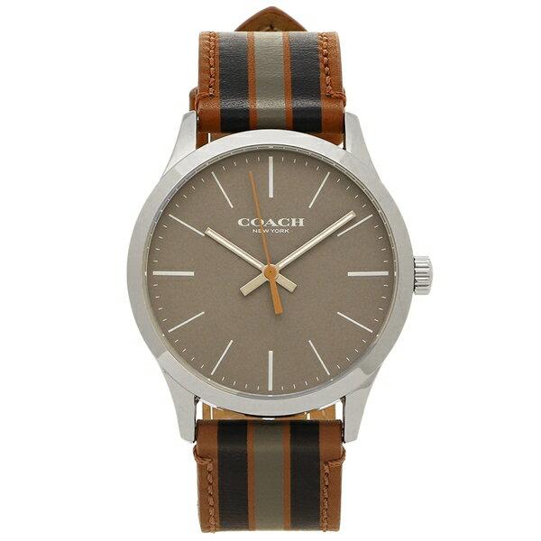 コーチ 腕時計 メンズ アウトレット COACH W1545 DDO シルバー ブラウン マルチカラー