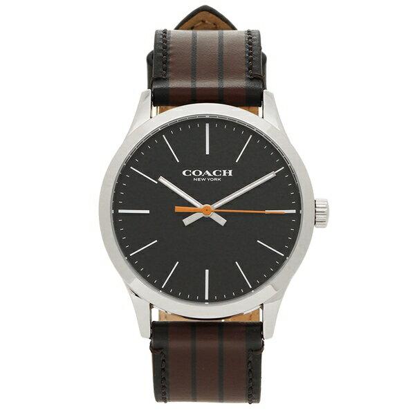 コーチ 腕時計 メンズ アウトレット COACH W1545 MABK シルバー ブラック マルチカラー