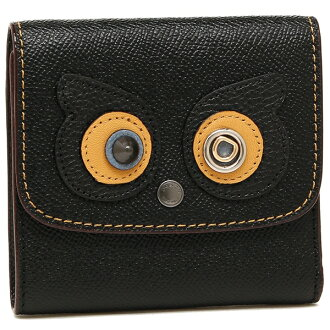 Coach fold wallet outlet Lady's COACH F22730 QB/BK black