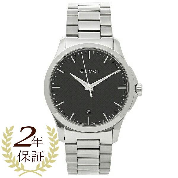【24時間限定ポイント5倍】グッチ 腕時計 メンズ GUCCI YA1264051 シルバー ブラック