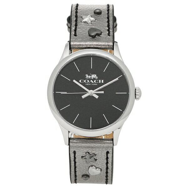 コーチ 腕時計 レディース アウトレット COACH W1550 MEC ブラック ガンメタルシルバー
