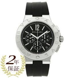 【26時間限定ポイント5倍】ブルガリ 腕時計 メンズ BVLGARI DG41BSVDCH ブラック シルバー