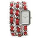 760547c73d11 Chanel watch レディースプルミエール CHANEL H5313 silver red pearl