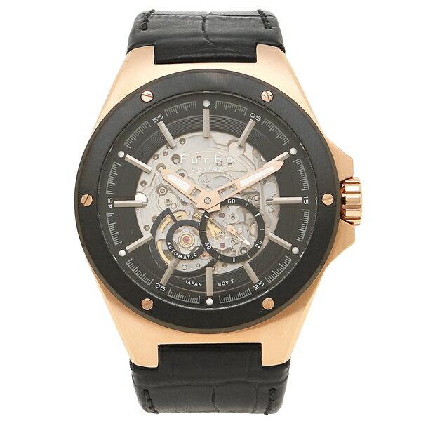 【6時間限定ポイント10倍】フルボデザイン 腕時計 メンズ Furbo design F2501PBKBK ブラック ピンクゴールド