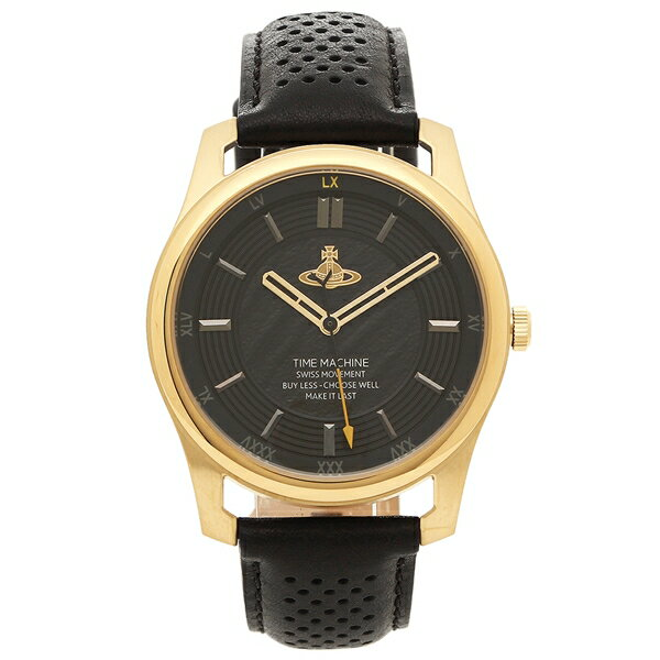ヴィヴィアンウエストウッド 腕時計 メンズ VIVIENNE WESTWOOD VV185GDBK ブラック イエローゴールド