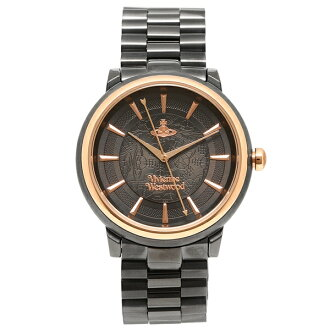 Vivien waist Wood watch Lady's VIVIENNE WESTWOOD VV196GNGN black Rose gold