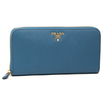 Prada long wallet Lady's PRADA 1ML506 QWA F0215 blue