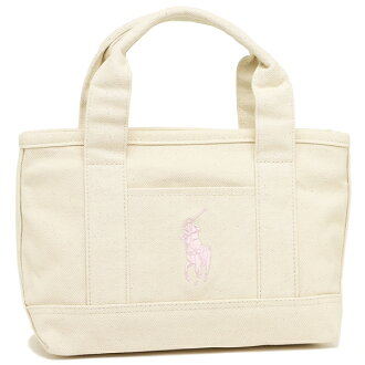 Polo tote bag Lady's POLO RALPH LAUREN RA100093 natural pink