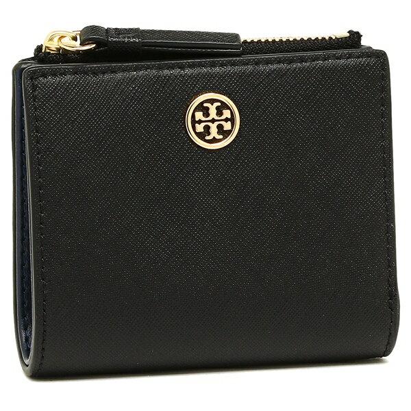 トリーバーチ 折財布 レディース TORY BURCH 47124 018 ブラック ネイビー