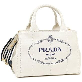 Prada tote bag Lady's PRADA 1BG439 ZKI ROO F0UB0 white navy