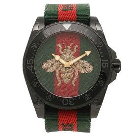 【返品OK】グッチ 腕時計 メンズ GUCCI YA136216 458987 I86P0 8766 グリーン レッド グリーンウェブ