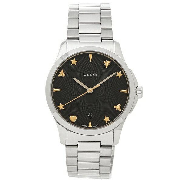 グッチ 腕時計 レディース GUCCI YA1264029 ブラック シルバー