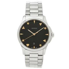 【30時間限定ポイント5倍】グッチ 腕時計 レディース GUCCI YA1264029 ブラック シルバー
