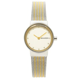 【返品OK】スカーゲン 腕時計 レディース SKAGEN SKW2698 シルバー/イエローゴールド/ホワイト