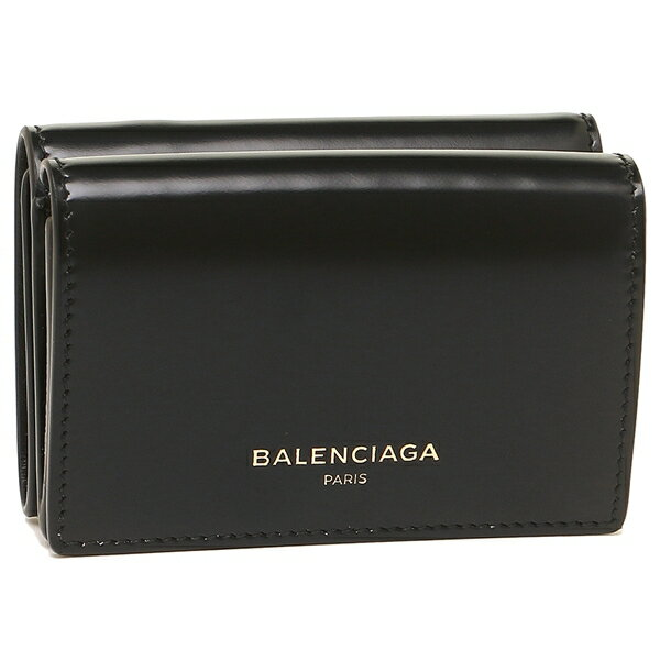 【4時間限定ポイント10倍】バレンシアガ 折財布 レディース BALENCIAGA 490621 DRY0N 1000 ブラック