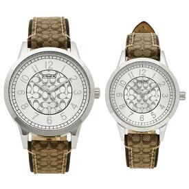 【返品OK】コーチ ペアウォッチ 腕時計 メンズ レディース COACH 14000042 カーキ シルバー