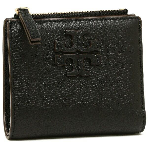 【4時間限定ポイント10倍】トリーバーチ 折財布 レディース TORY BURCH 45246 001 ブラック