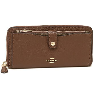 Coach long wallet outlet Lady's COACH F22997 IMEB0 brown