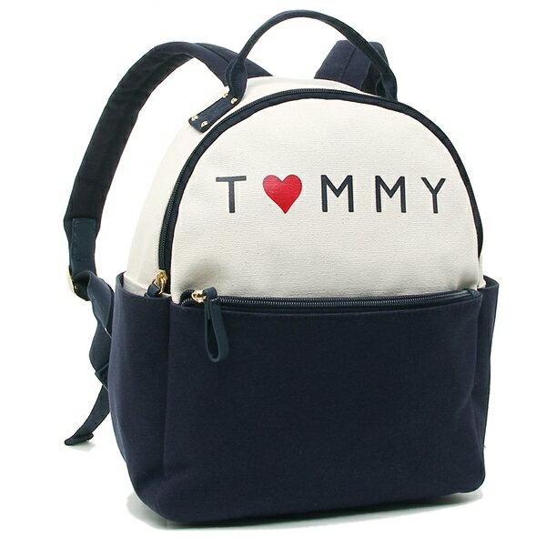 TOMMY HILFIGER トミーヒルフィガー リュック レディース W86944554 104 ホワイト ネイビー アウトレット